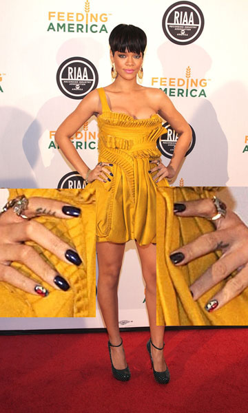 Singer Rihanna attends the RIAA and Feeding America Inauguration